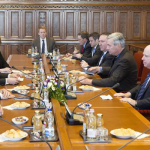 "Senator John McCain pays ""lightning visit"" to Hungary"