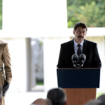 President Janos Ader delivers speech at today's memorial event
