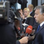 Viktor Orban holds impromptu press conference after European Council defeat
