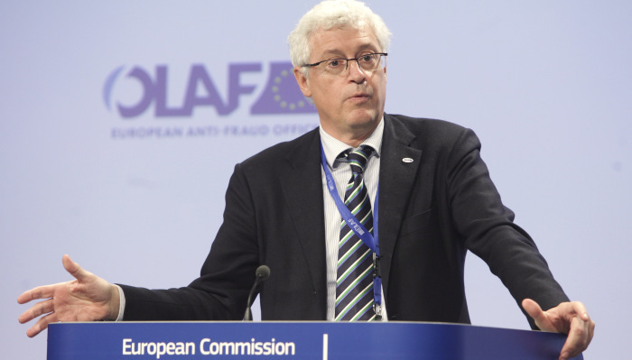 Giovanni Kessler, Director General of OLAF, gives a briefing on the resignation of John Dalli