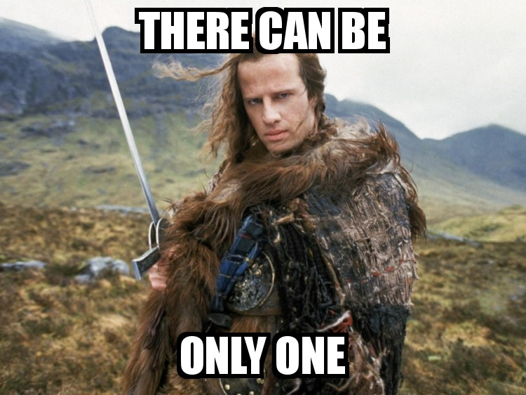 There Can Be Only One - Image from Highlander movie