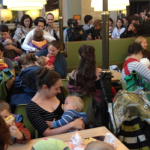 Young mothers stage nurse-in at Budapest McDonald's