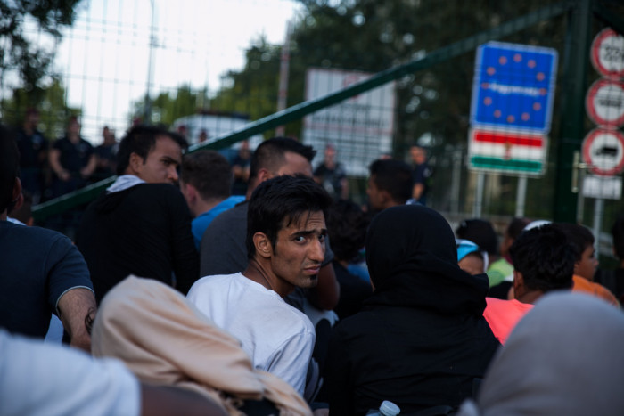 Those arriving to the Hungarian border before midnight allowed to enter  Photo: Márton Magócsi