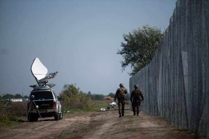 The presence of soldiers and the media could be felt near the border  Photo: Márton Magócsi