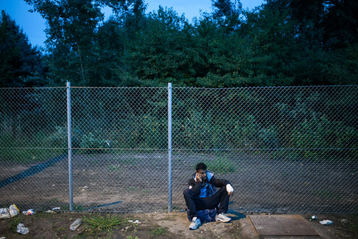 Hungarian police used Arab interpreters to inform refugees that the border is closed  Photo: Márton Magócsi