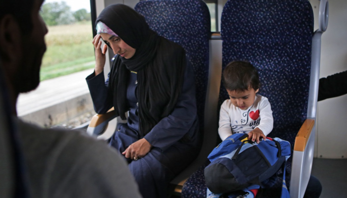 Asylum seekers on the train from Nickelsdorf to Vienna  Source: Origo.hu