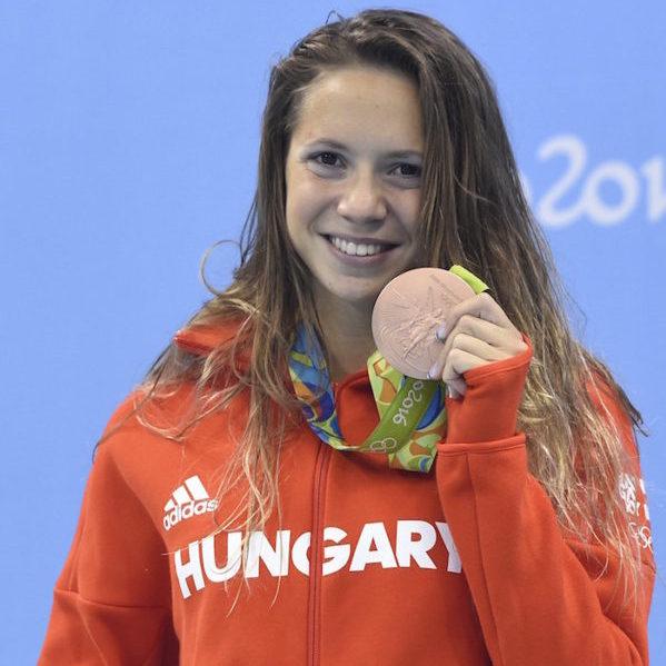 Rio de Janeiro, 2016. augusztus 13. Kapás Boglárka a női 800 méteres gyorsúszás eredményhirdetésén a riói nyári olimpián a Rio de Janeiró-i Olimpiai Uszodában 2016. augusztus 12-én. MTI Fotó: Kovács Tamás