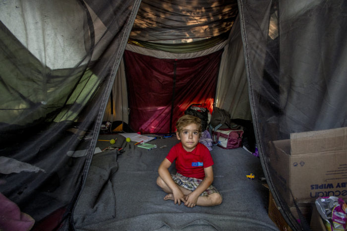 Farazd has lived in the camp with his family for 55 days. Photo: D. András Hajdu