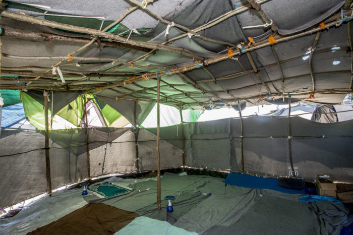 The mosque--in the middle of the camp there is a communal tent where prayers are held five times a day. Photo: D. András Hajdu