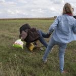 Refugee-kicking camera operator sentenced to 3 years probation