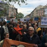 """Russia is still far away!"""" – Hungarian protesters hold satirical ""peace march"""