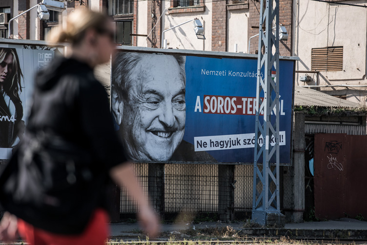 George Soros made pro-govt propaganda a lot of money in 2017!