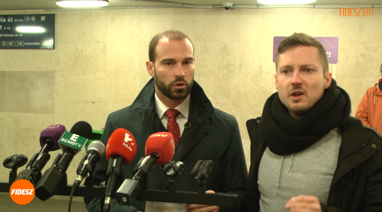 Momentum's Tamás Soproni interrupts Fidesz-KDNP press conference