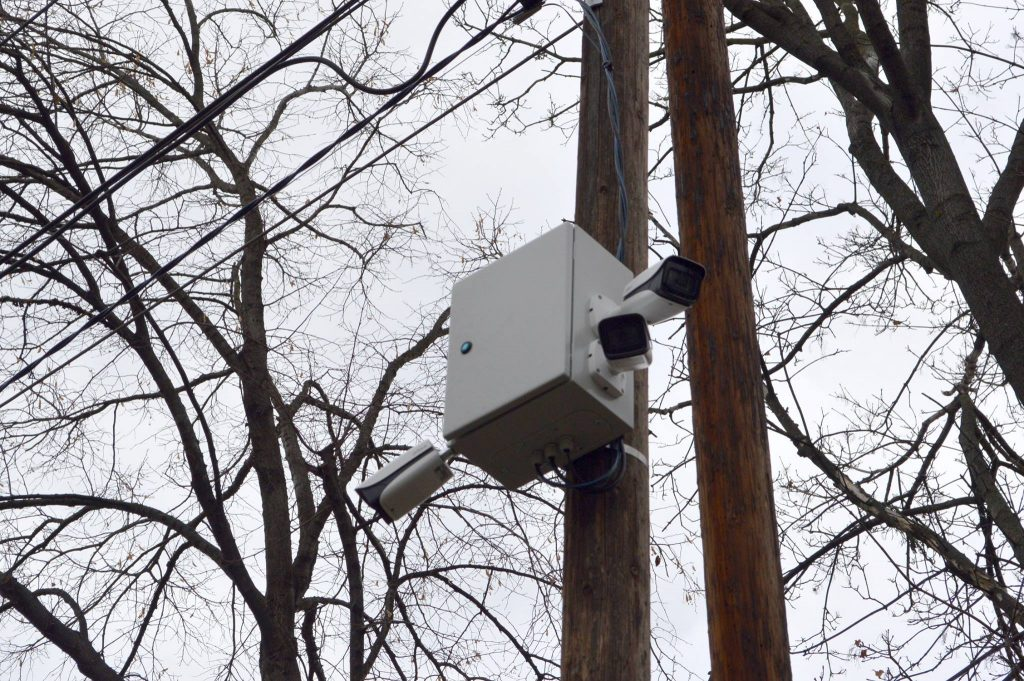 Surveillance cameras appeared in street of mayoral candidate the day he announced his candidacy
