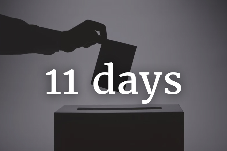2018 parliamentary election - 11 days to go