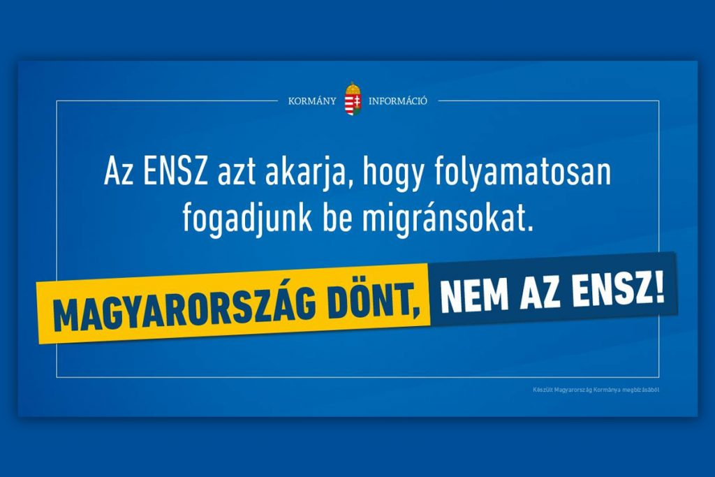 """Hungary decides, not the UN"" billboards blanket Hungary"