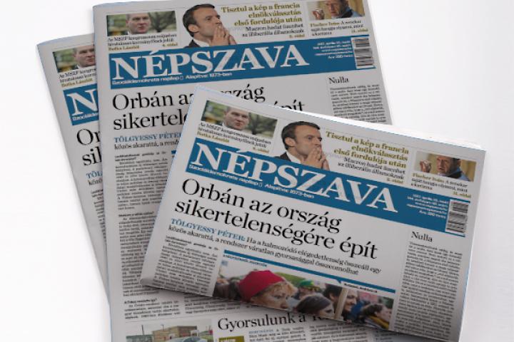 Népszava, His Majesty's opposition paper