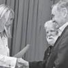 Deputy Speaker of Parliament gives award to infamous migrant-kicker Petra László